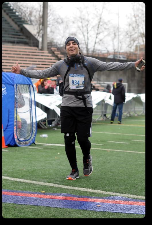 2016 Seattle Marathon Finish