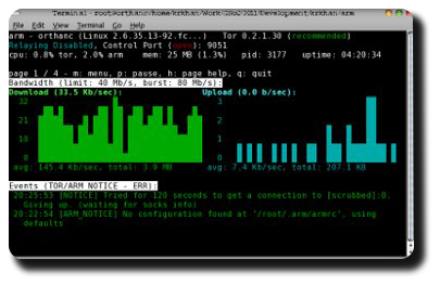 CLI bandwidth stats for arm