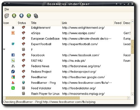 Bookmark Undertaker Screenshot