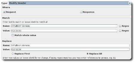 Charles Rewrite Add Rule Screenshot