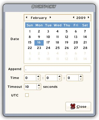 Pidgin Countdown Preferences Screenshot