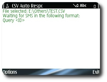 CSV Auto-Responder v1.0 Screenshot
