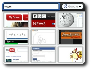 Opera Mobile Screenshot