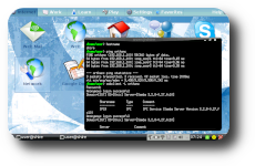 Screenshot of Eee PC accessing a Windows PC on LAN by name