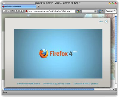 Firefox 4 Beta 1 Screenshot
