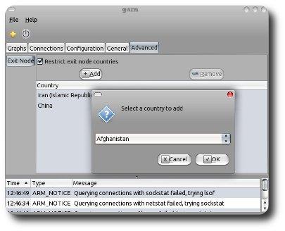 Exit node selector for garm