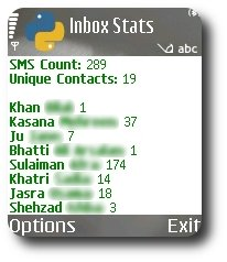 Inbox Stats Screenshot