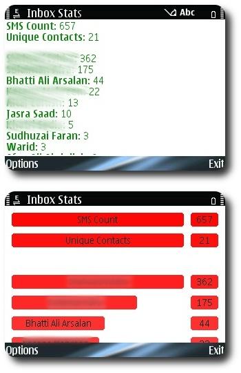 Inbox Stats v1.1 Screenshot