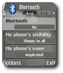PyS60 Bluetooth HOWTO, Mobile screenshot #1