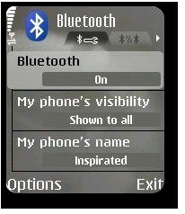 PyS60 Bluetooth HOWTO, Mobile screenshot #1