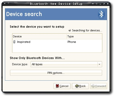 PyS60 Bluetooth HOWTO, PC screenshot #2