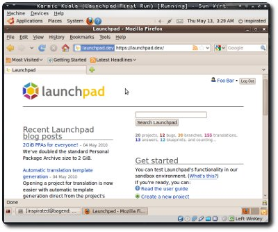 Virtual Launchpad Snapshot #1