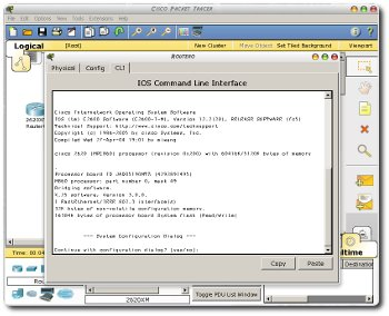 Screenshot of Packet Tracer running in Wine